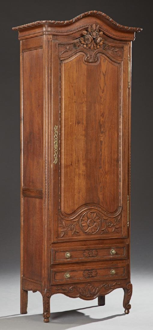Unusual French Provincial Louis XV Style Carved Oak