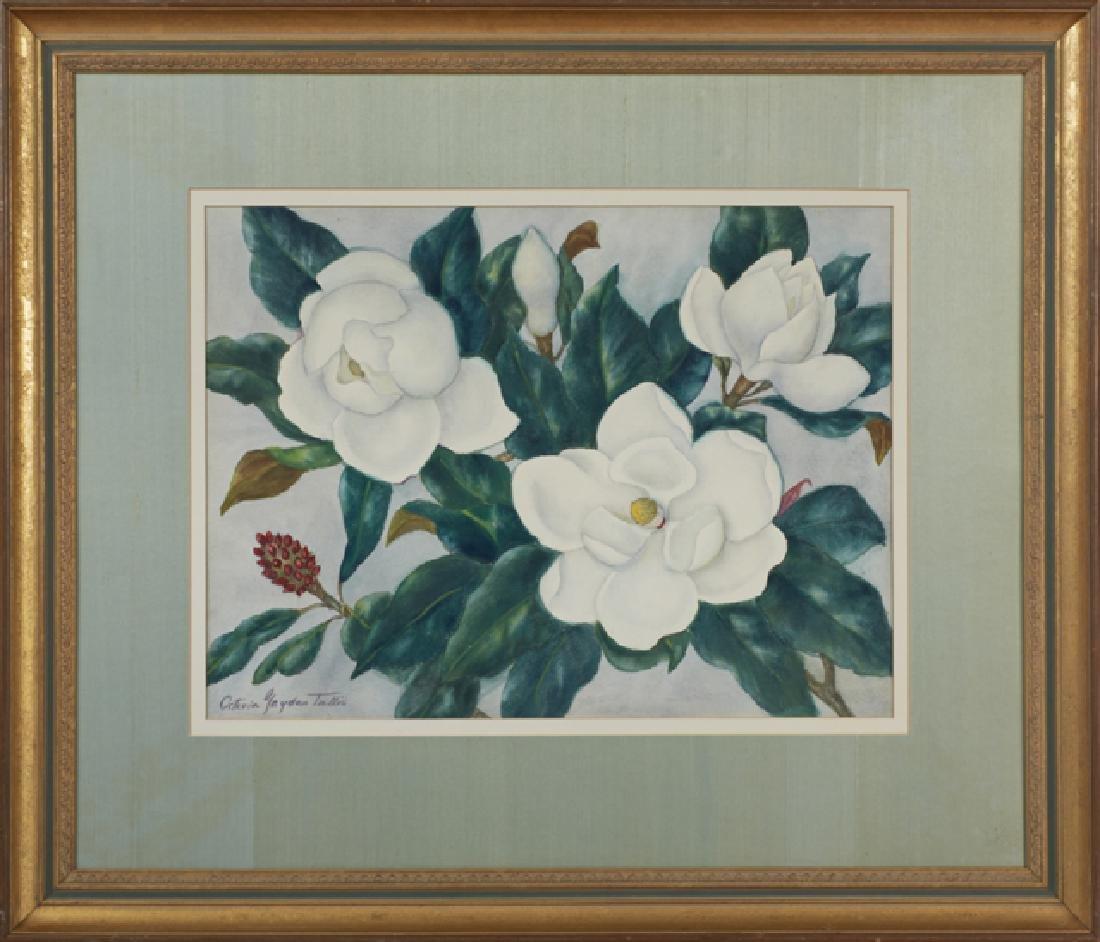 """Octavia Gayden Tullis (1881-1970, Louisiana), """"Magnolia"""