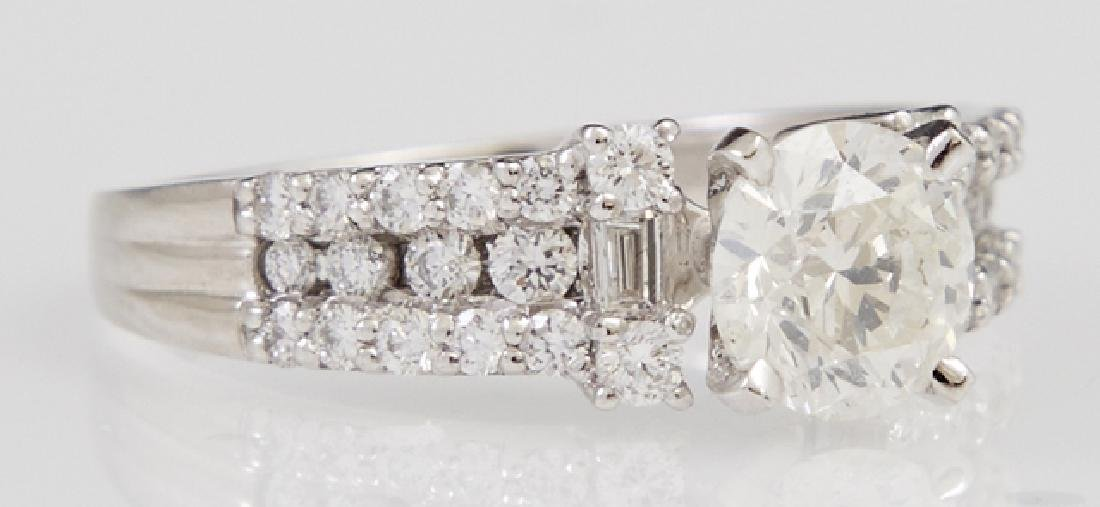 Lady's Platinum Dinner Ring, with a central 1.14 carat