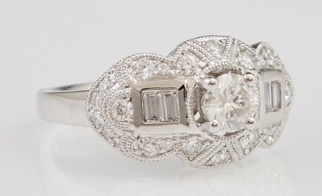 Lady's Platinum Dinner Ring, with a central .51 carat