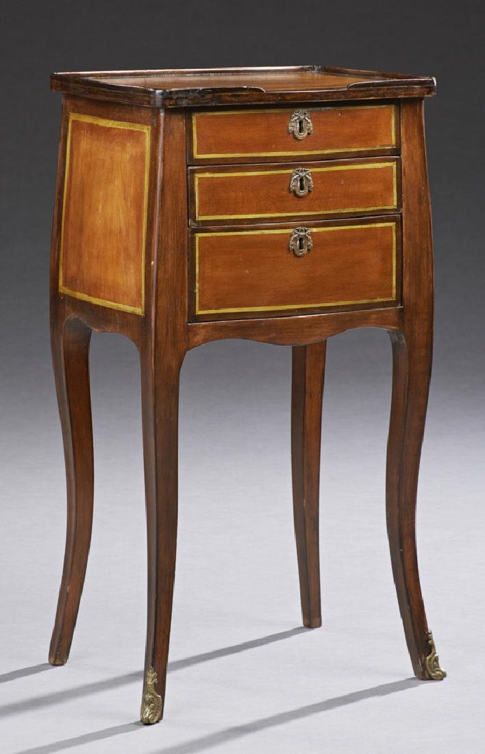 French Louis XV Style Carved Walnut Night Stand, early