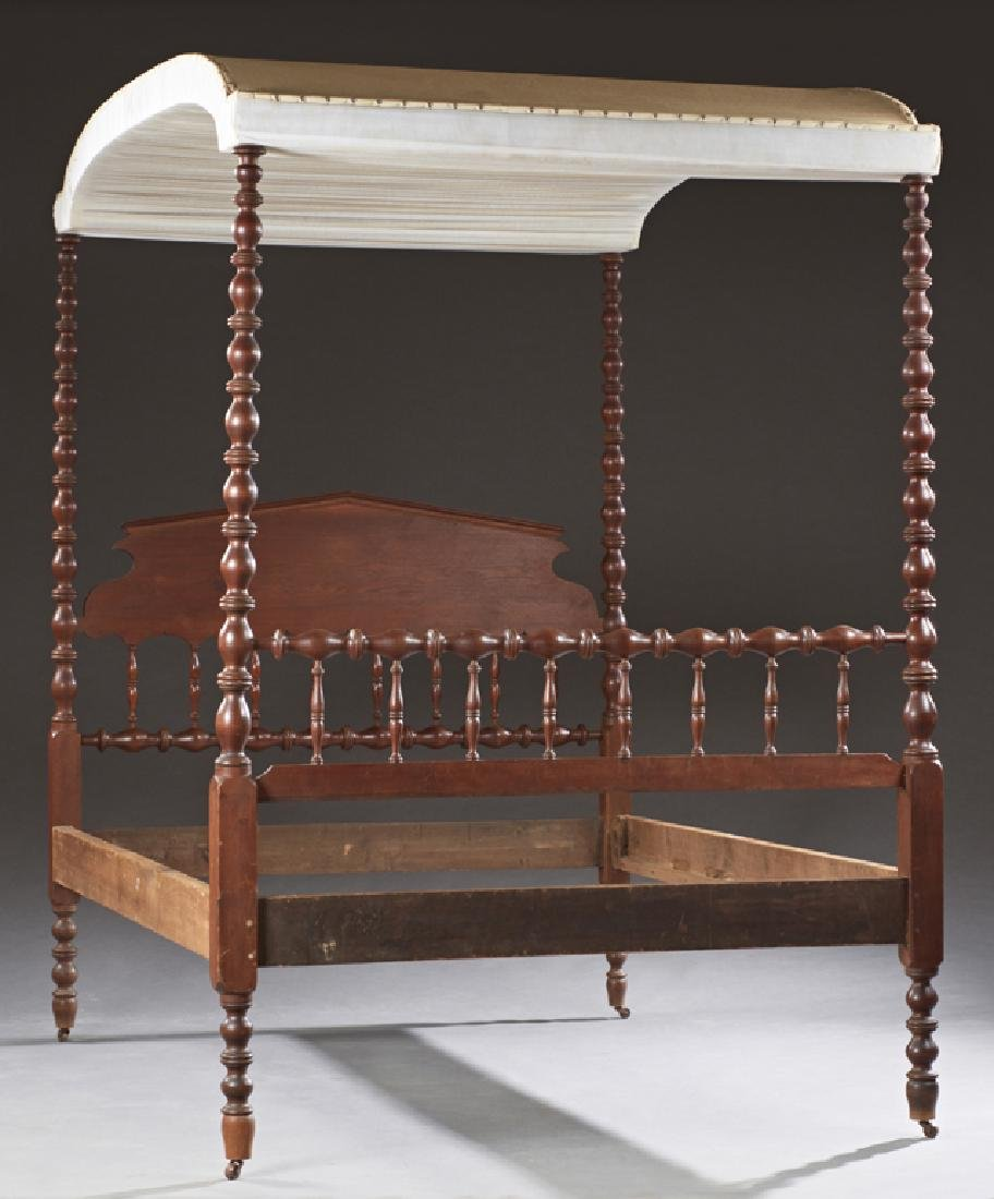 American Carved Mahogany Jenny Lind Tester Bed. c.