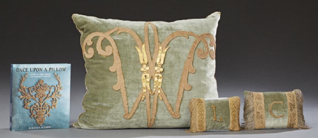 Group of Three Vizard Pillows by Rebecca Vizard,