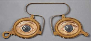 American Iron and Terracotta Optometrist's Trade Sign,