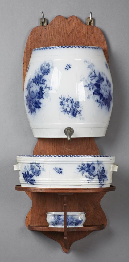 "English Ironstone Lavabo, 19th c., in the ""Aremone"""
