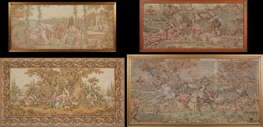 Lot of 4 tapestries