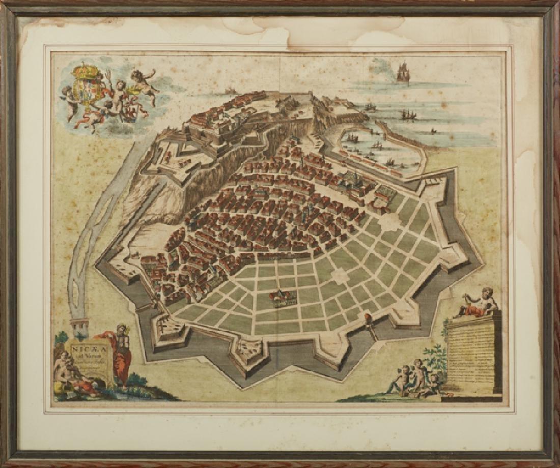 """Johannes Blaeau (1650-1712, Dutch), """"Nicaea ad Varum"""