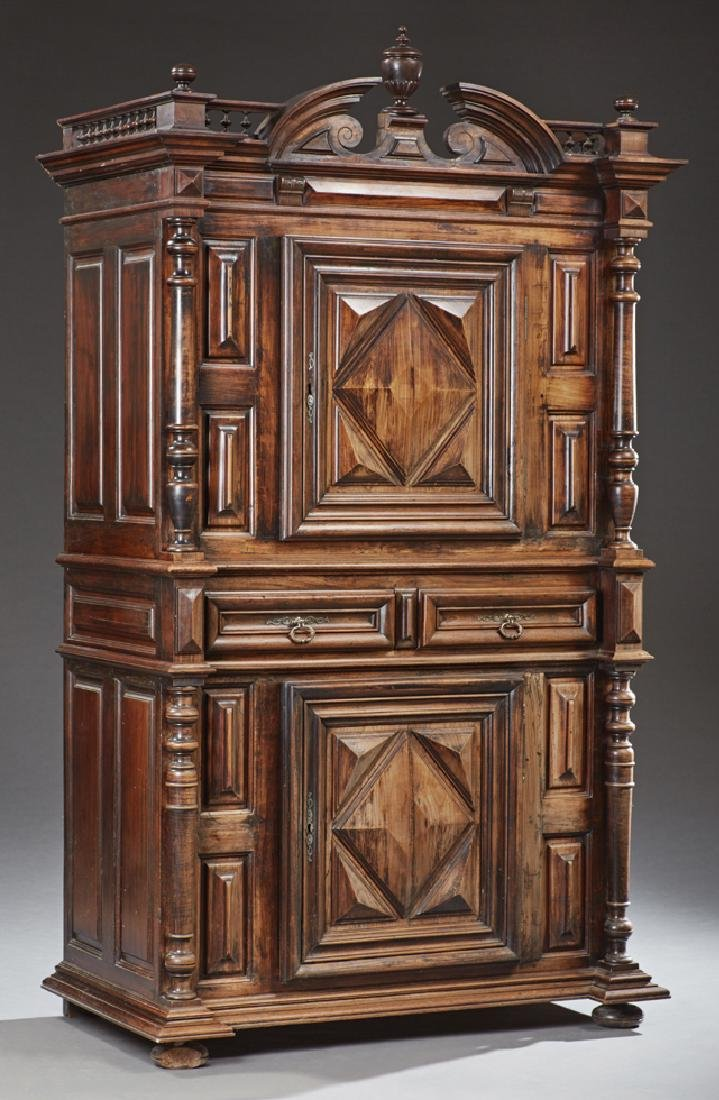 French Louis XIII Style Carved Walnut Homme Debout,