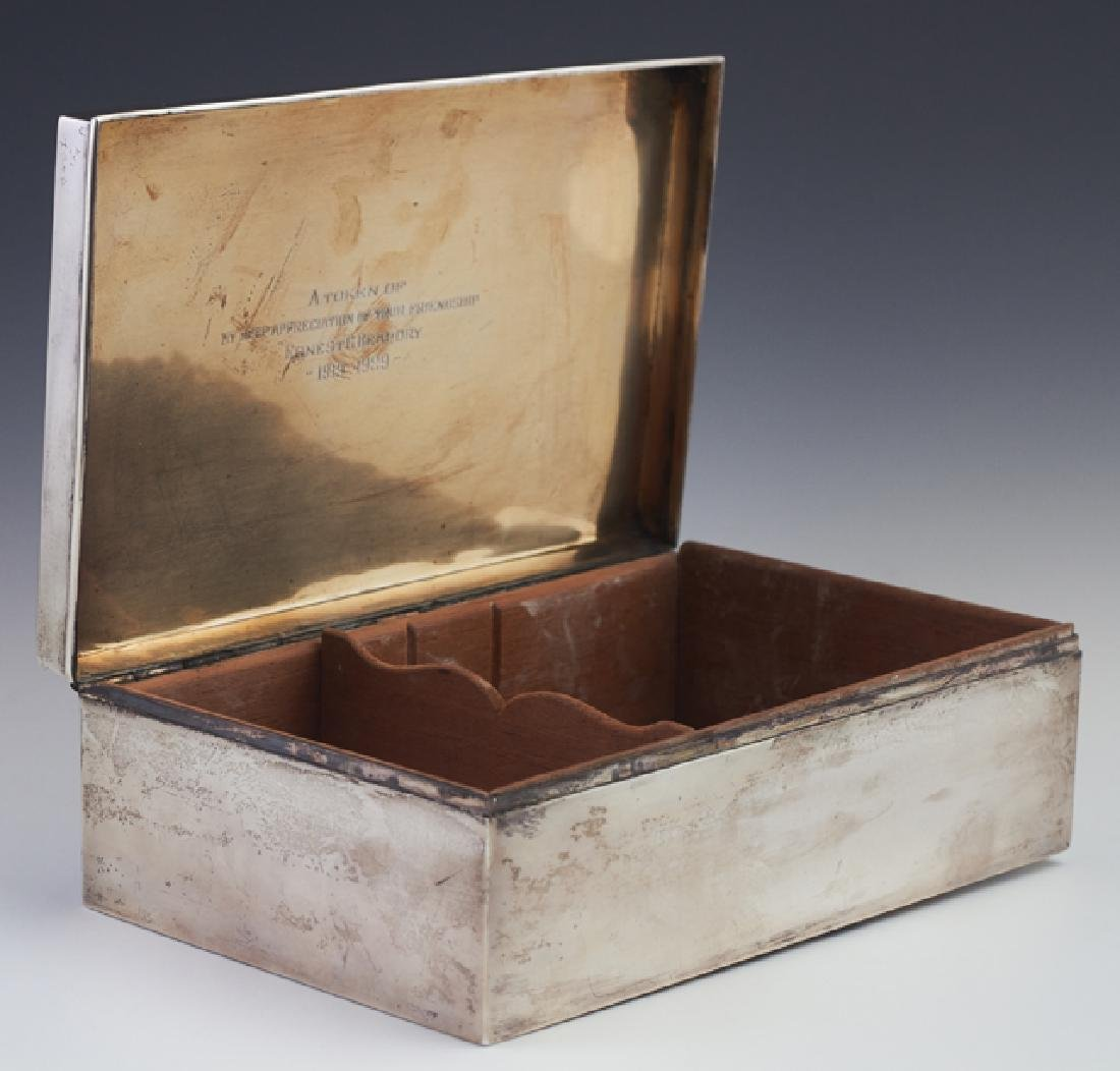 Sterling Humidor, c. 1929, by Ahrendt & Kautzman, New - 2