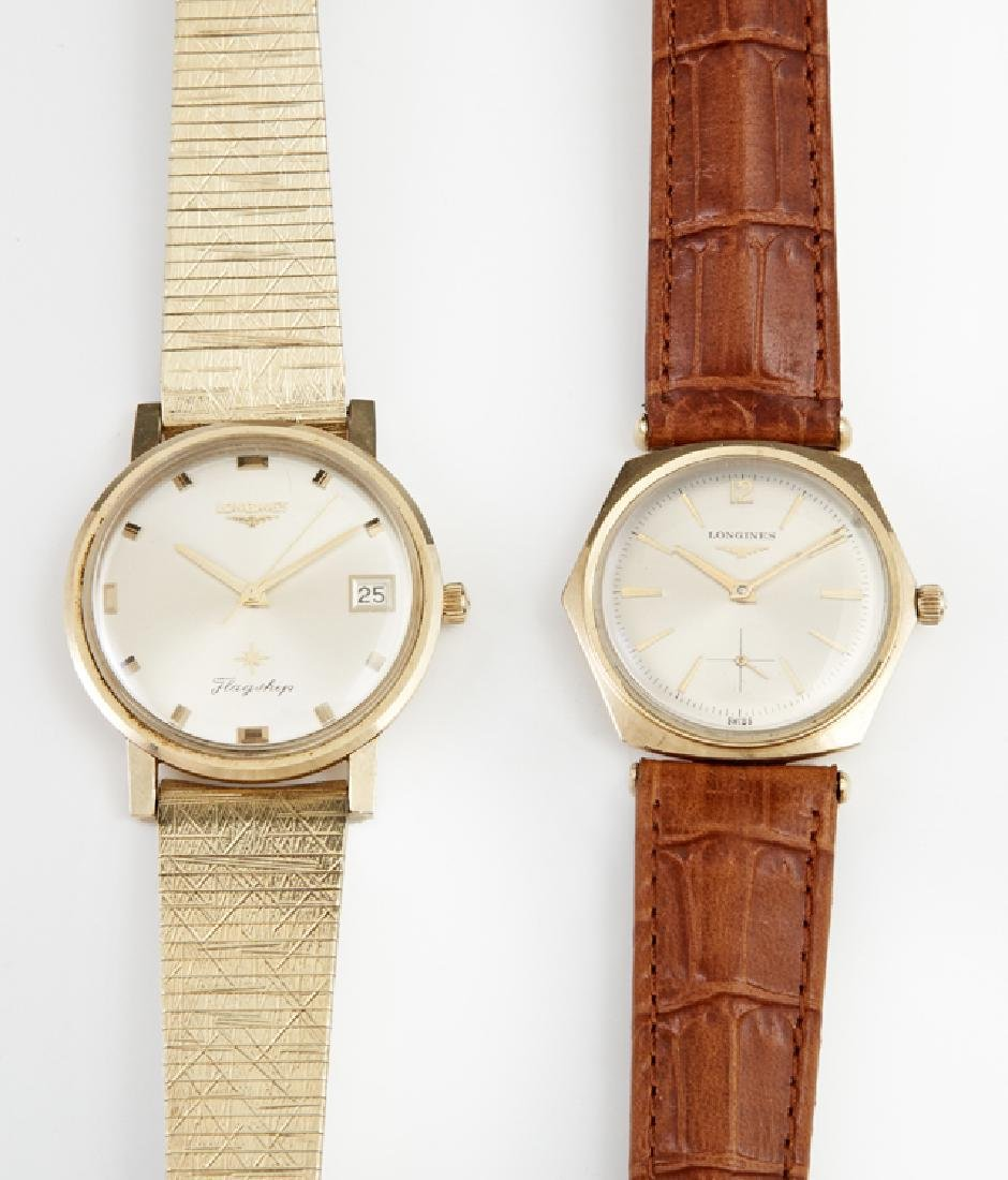 Two Man's Longines GF Manual Wind Dress Watches, one a