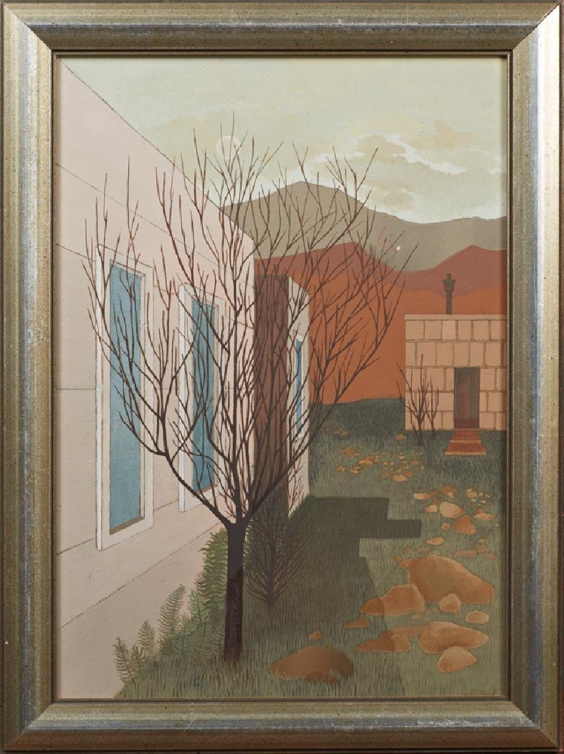 "Adalie Brent (1920-1992), ""Bare Trees Behind the"