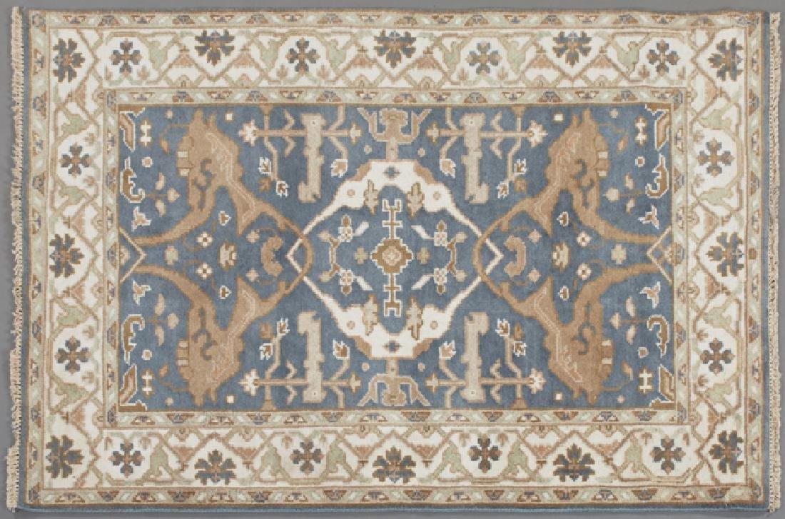 Turkish Angora Oushak Carpet, 4' 2 x 5' 10.