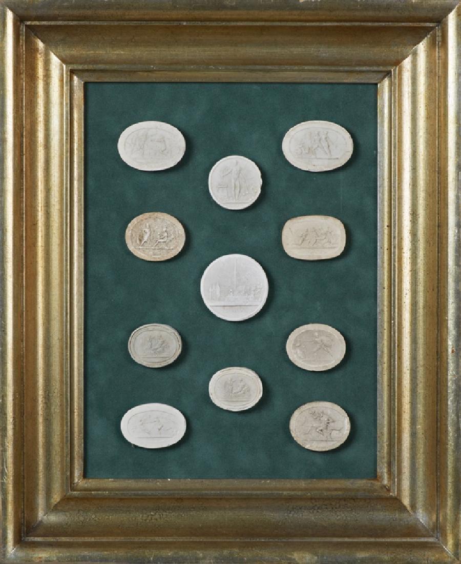Group of Eleven Plaster Intaglios, 19th c., Grand Tour