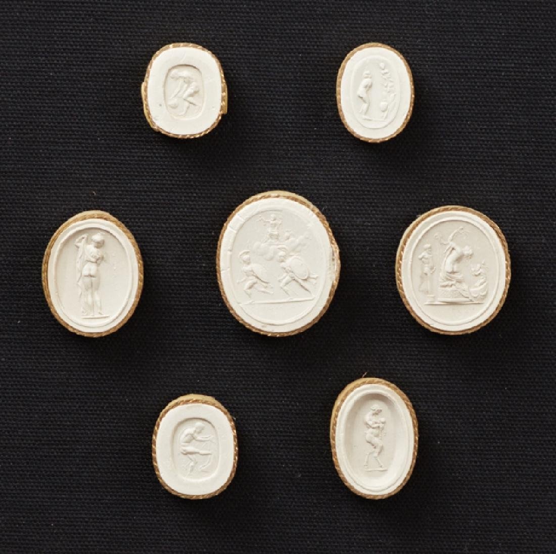 """Two Groups of Plaster Intaglios,"""" 19th c., each with - 2"""