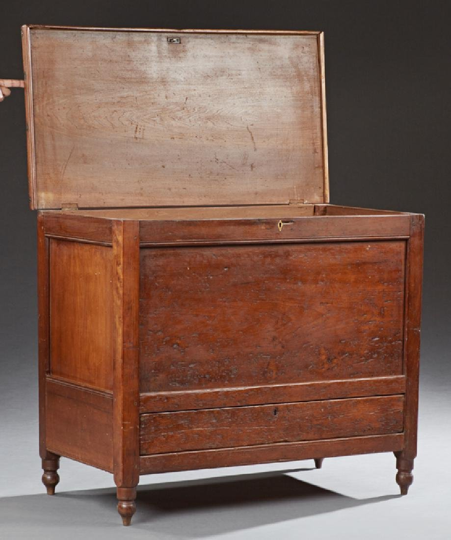 Southern Carved Walnut Sugar Chest, 19th c., the - 2