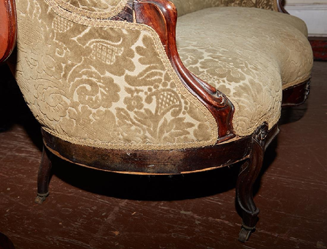 American Rococo Revival Carved Rosewood Settee, 19th - 10