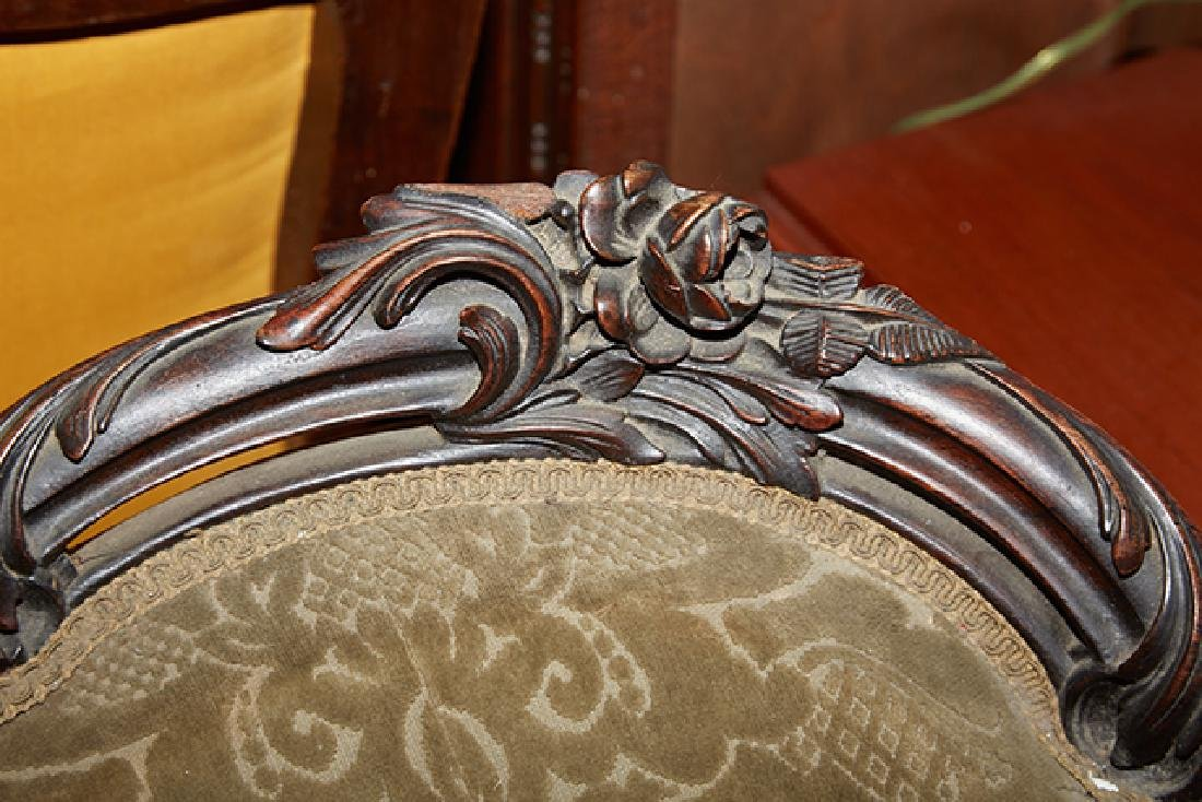 American Rococo Revival Carved Rosewood Settee, 19th - 2