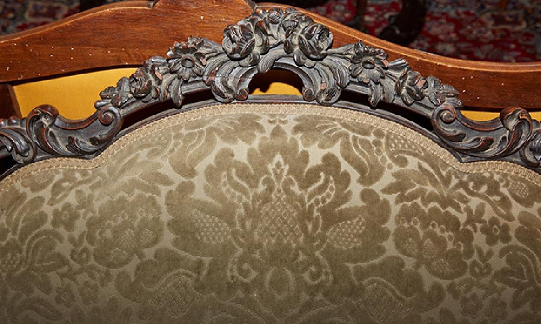 American Rococo Revival Carved Rosewood Settee, 19th - 5