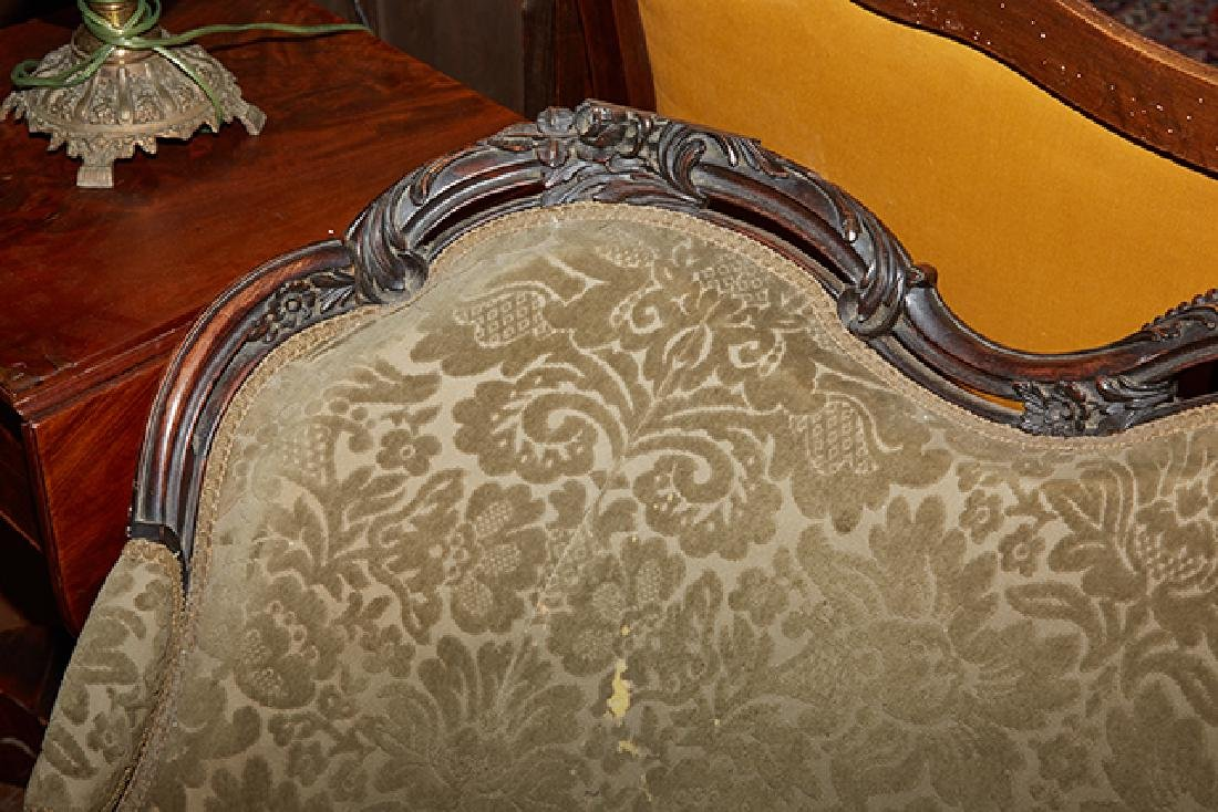 American Rococo Revival Carved Rosewood Settee, 19th - 6