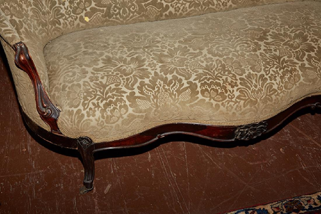 American Rococo Revival Carved Rosewood Settee, 19th - 7