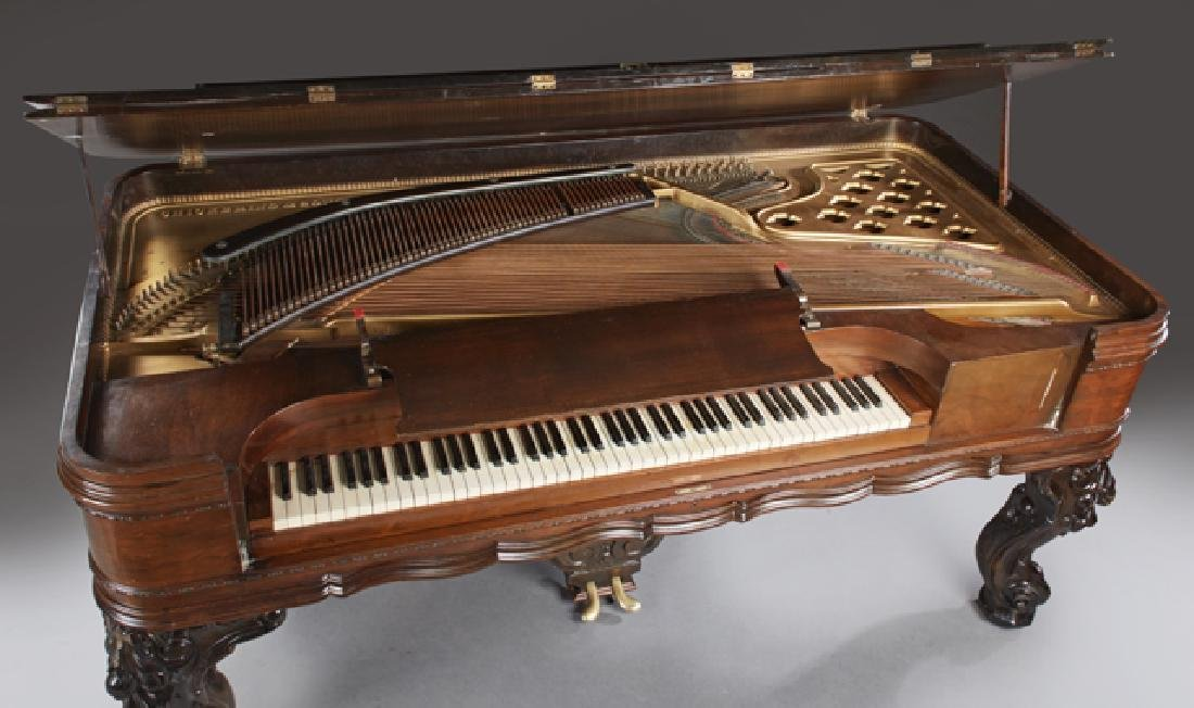 Chickering Carved Rosewood Square Grand Piano, c. 1882, - 4