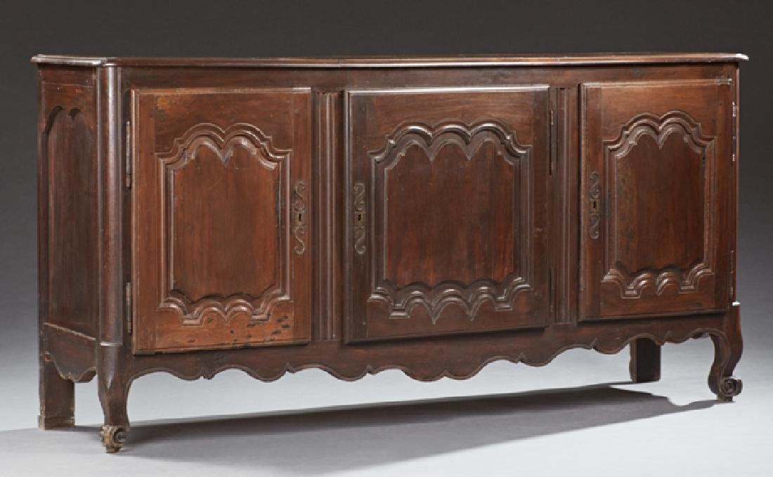 French Louis XV Style Carved Walnut Sideboard, late