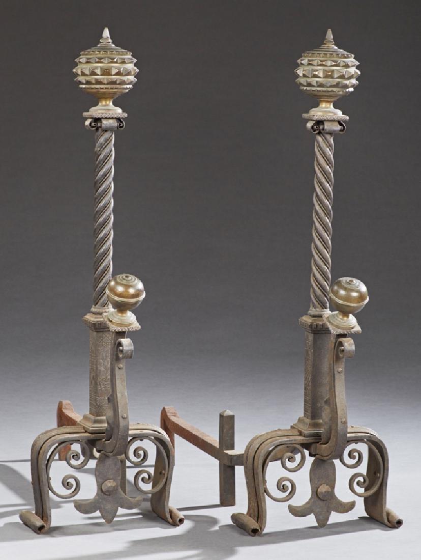 Unusual Pair of Large Bronze and Cast Iron Scottish