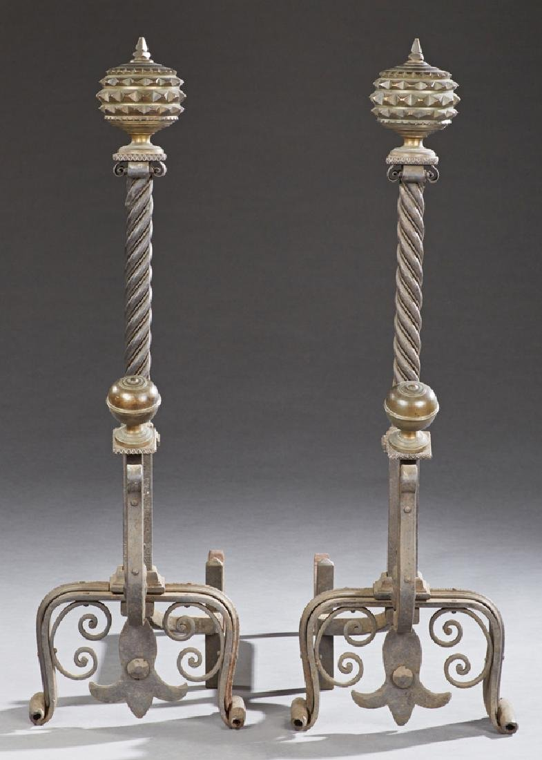 Unusual Pair of Large Bronze and Cast Iron Scottish - 2