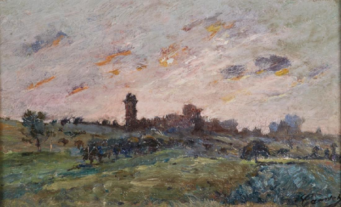 """Leon-Louis Canivet, """"Landscape,"""" 20th c., oil on panel, - 2"""