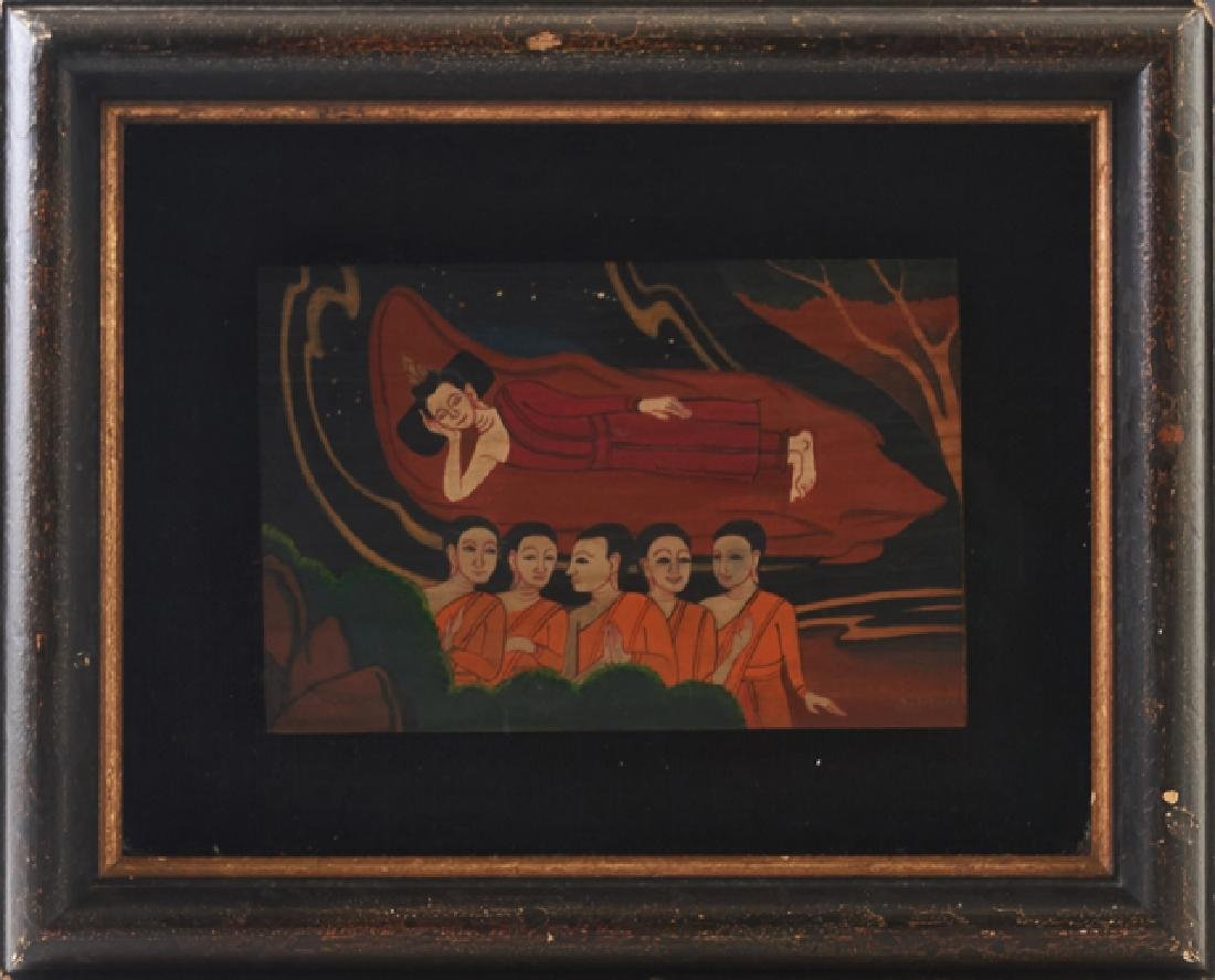 "George Chann (1913-1995), ""Deities,"" 20th c., oil on"