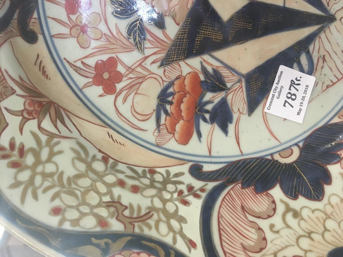Pair of Large Imari Porcelain Chargers, late 19th c., - 6