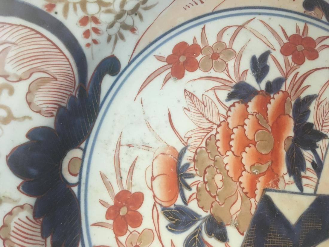 Pair of Large Imari Porcelain Chargers, late 19th c., - 7