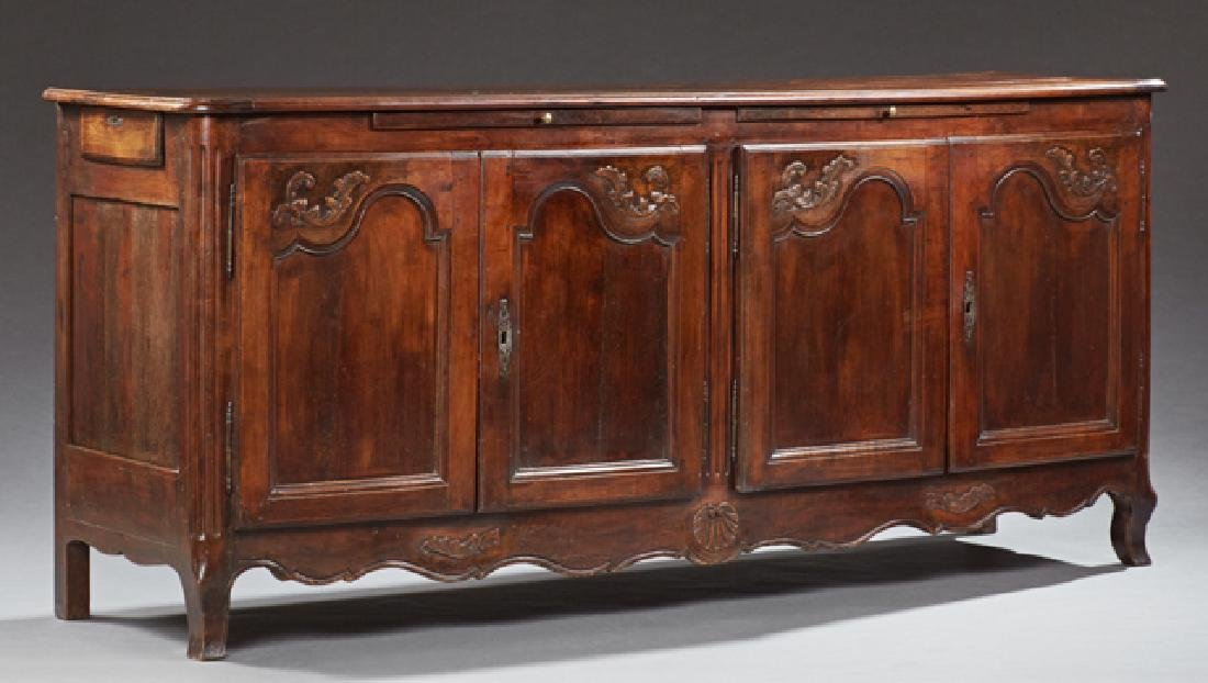 Louis XV Style Carved Cherry Sideboard, 19th c., the