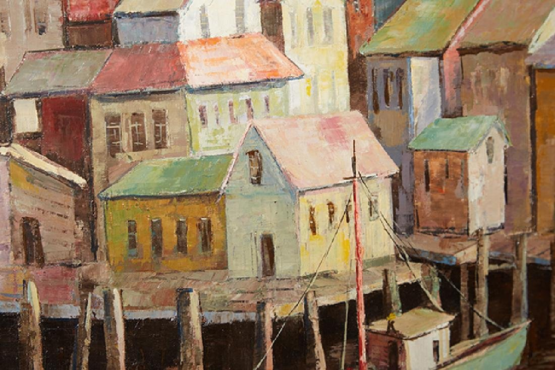 """Carl Thorp (1918-1995), """"Gloucester Waterfront,"""" 20th - 2"""