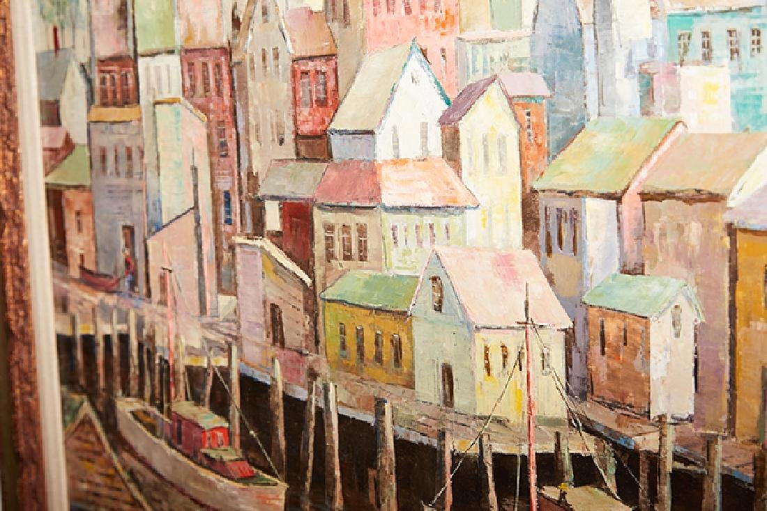 """Carl Thorp (1918-1995), """"Gloucester Waterfront,"""" 20th - 5"""