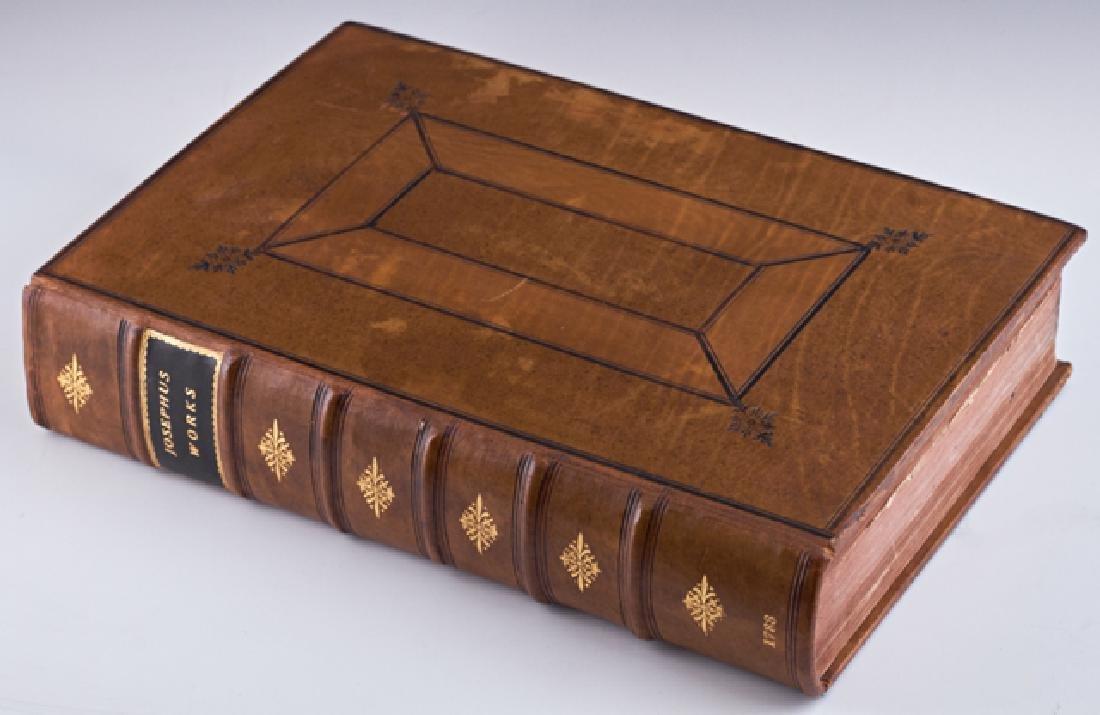 "Book-""The Works of Flavius Josephus,"" 1733, London, by"