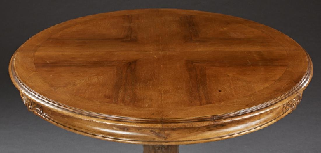 French Louis Philippe Carved Walnut Dining Table, 19th - 2