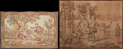 Two French Tapestries, 20th c., one by Gobelins of