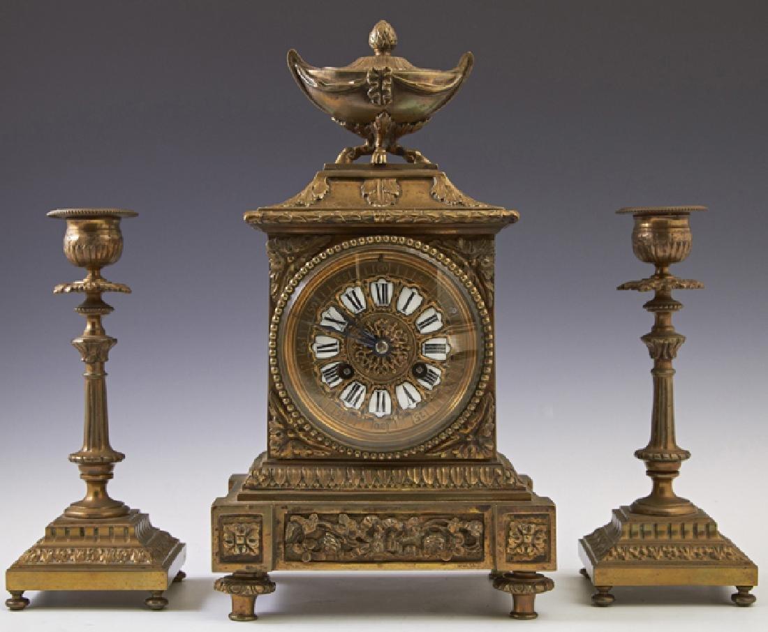Diminutive French Louis XVI Style Gilt Bronze Three