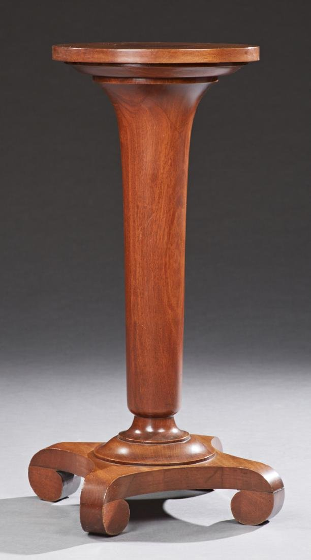 American Classical Mahogany Candle Stand, late 19th c.,