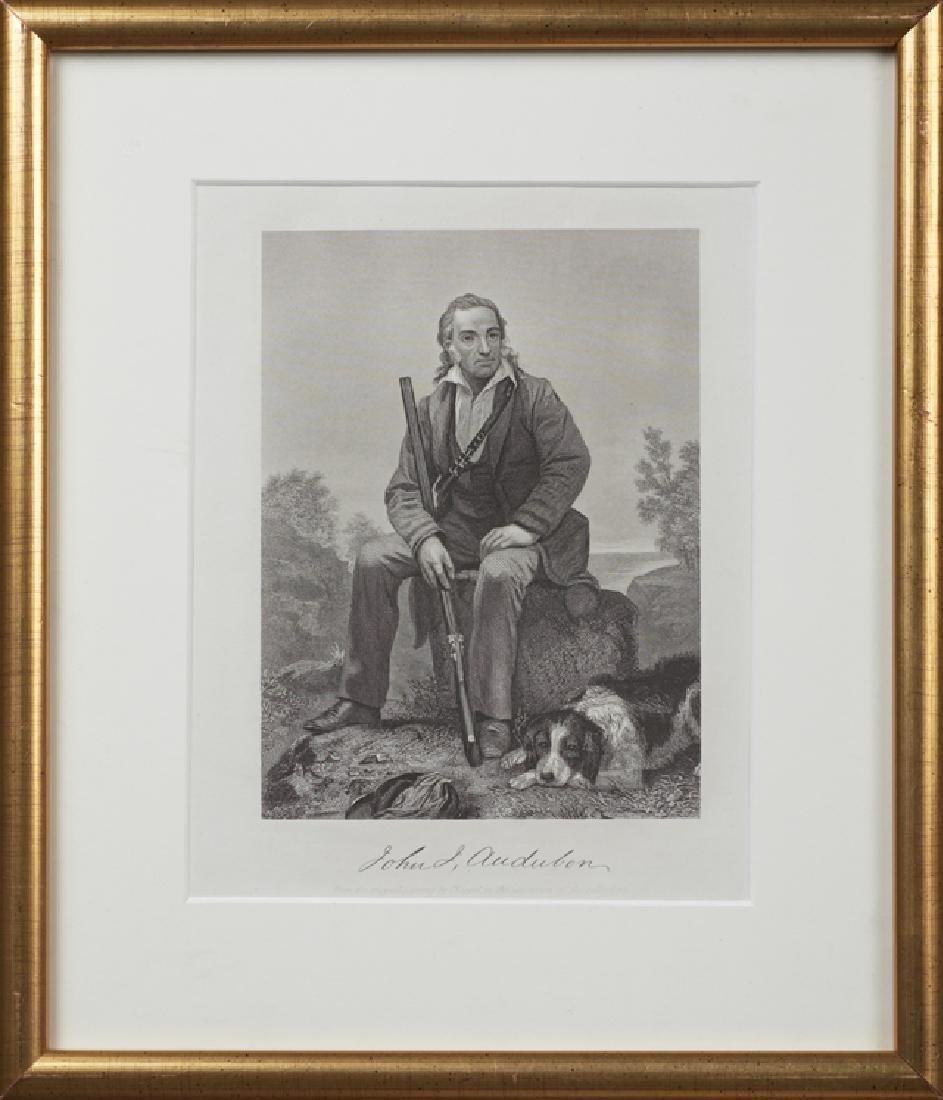 """After Alonzo Chappel, """"John J. Audubon,"""" 1862, steel"""