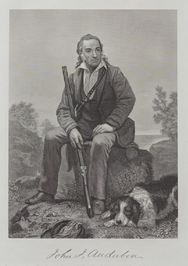 """After Alonzo Chappel, """"John J. Audubon,"""" 1862, steel - 2"""