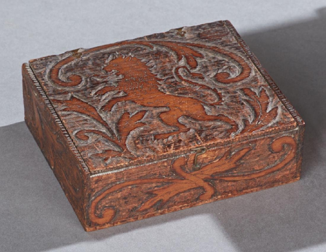 Group of Four Boxes, 19th c., consisting of a gilt - 2