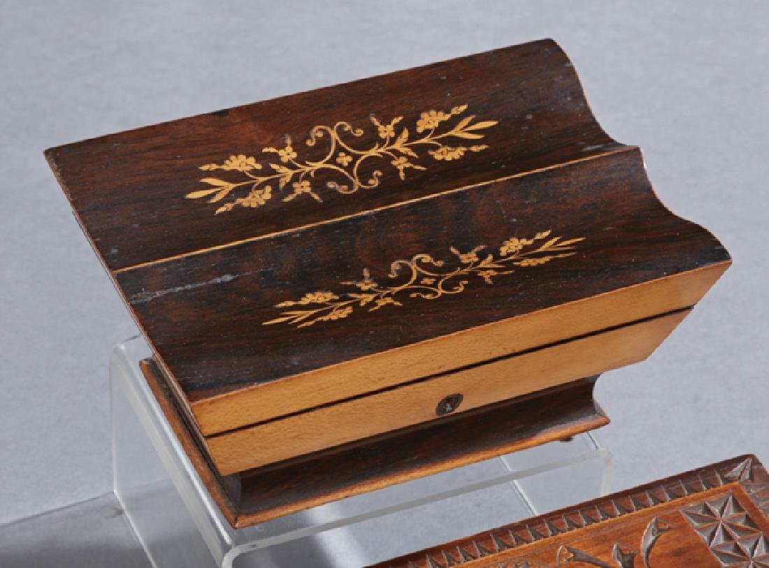 Group of Four Boxes, 19th c., consisting of a gilt - 3