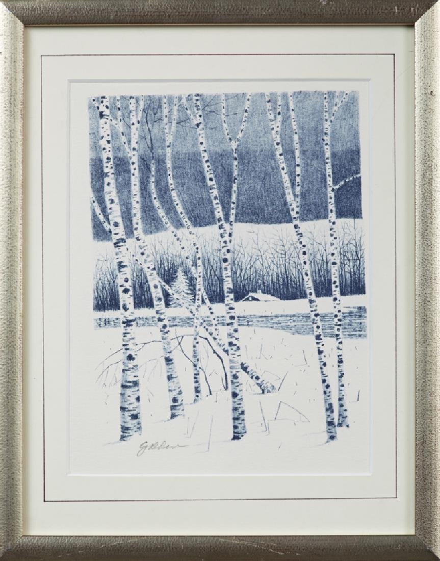 "Rolland Golden (1934-), ""Birch Trees in Winter,"" 20th"