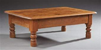 French Provincial Carved Oak Coffee Table, early 20th