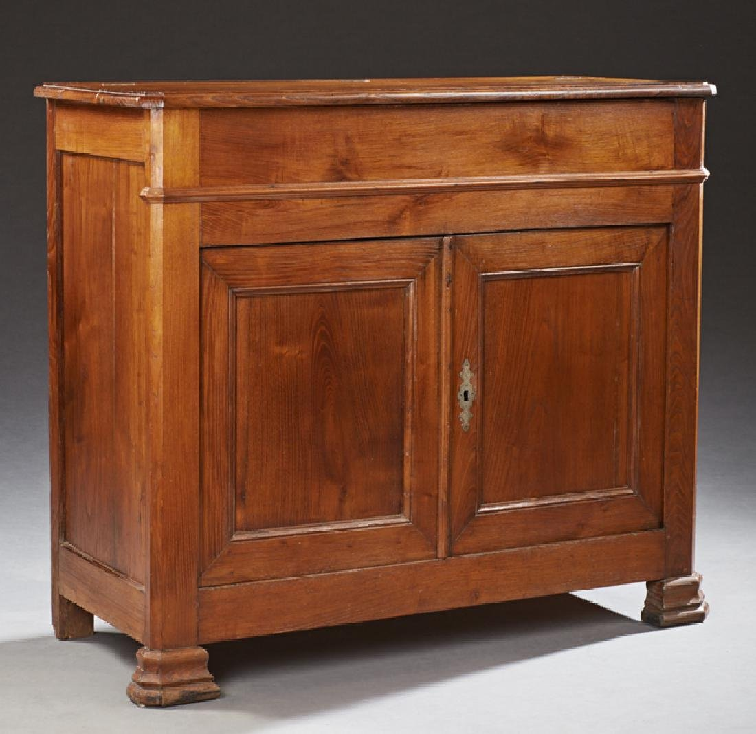 French Louis Philippe Style Carved Oak Sideboard, c.