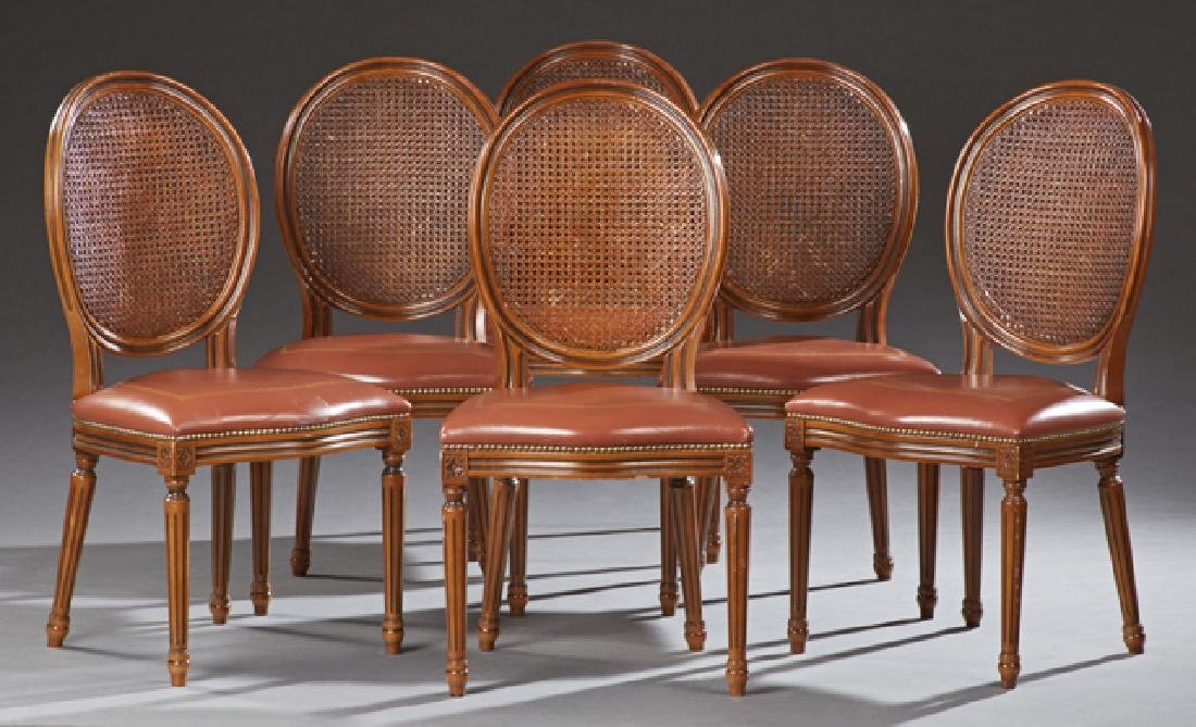 Set of Six French Louis XVI Style Carved Beech Dining