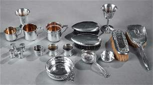 Group of Nineteen Silver Items, consisting of three