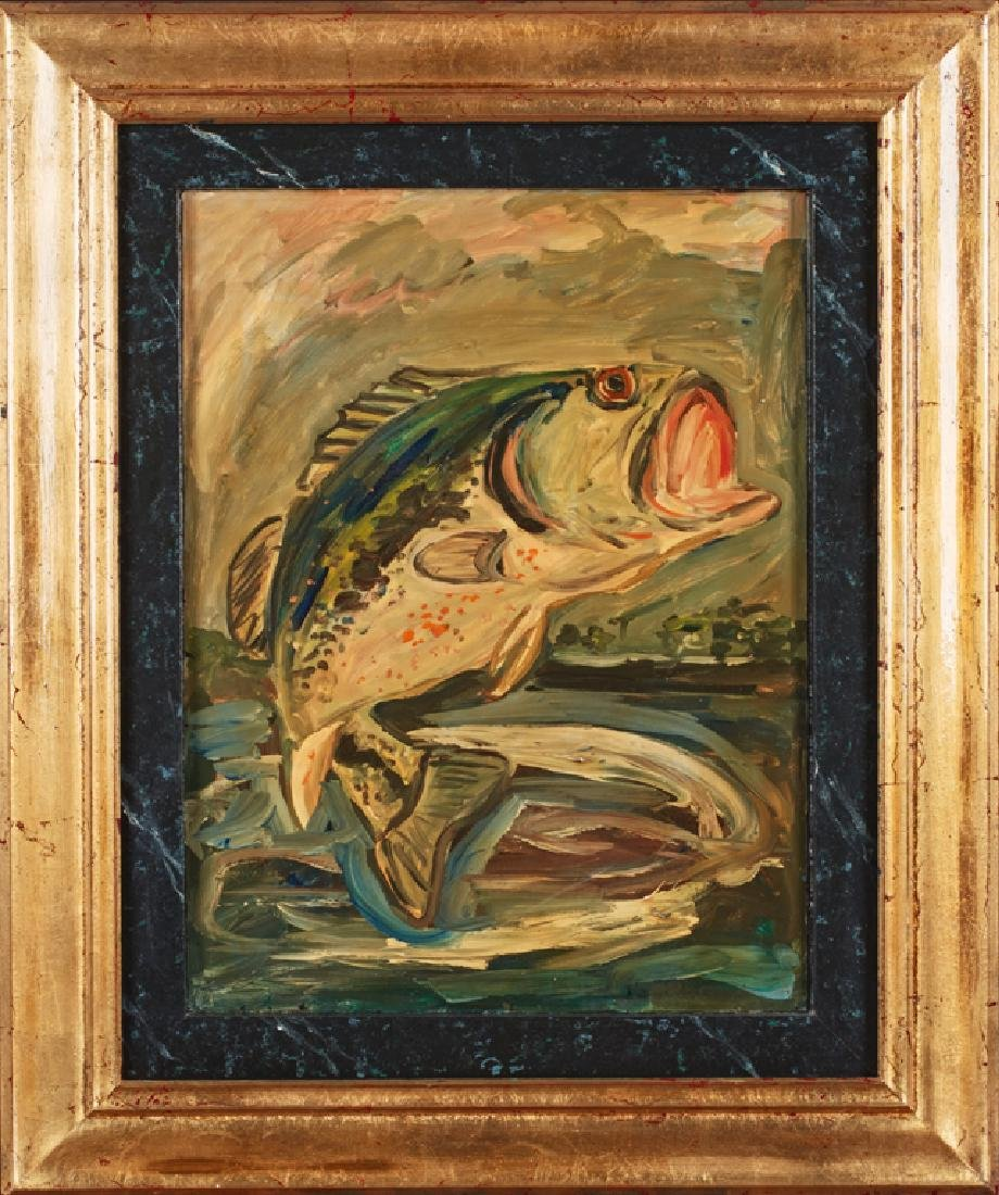 """Mike Howard (New Orleans), """"Large Mouth Bass,"""" 20th c.,"""